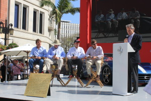 Guest Panelist for the show are former Ferrari racers. .