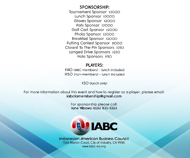 Indonesian American Business Council 4th Annul Golf Tournament
