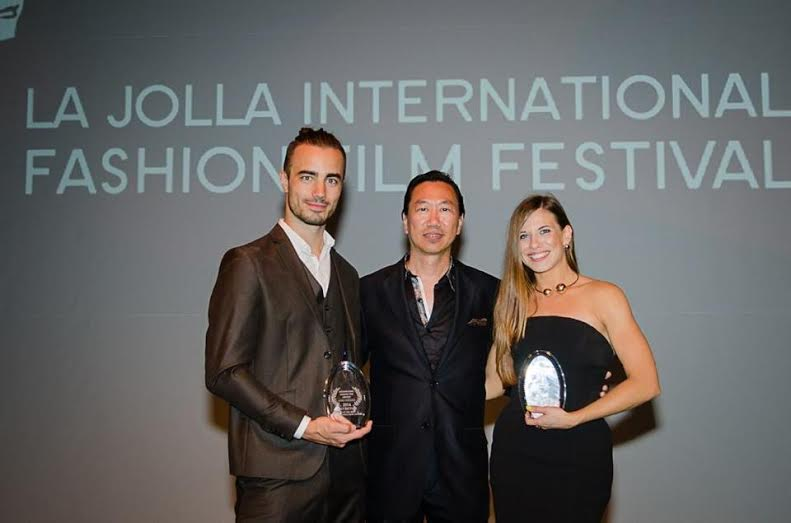 La Jolla Fashion Film Festival Global Ambassador Gene Chang with Kiss of the Siren filmmakers. Photo: GLAD Photogtaphy