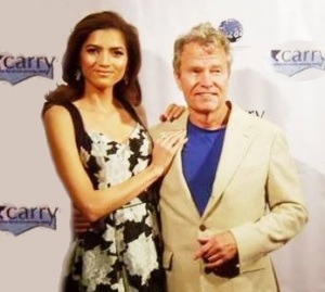 Actors Blanca Blanco and John Savage,