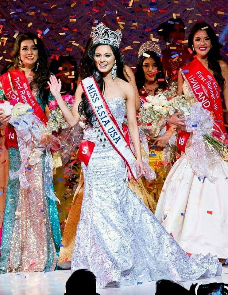 Miss Ashley Park representing South Korea is crowned Miss Asia USA 2015