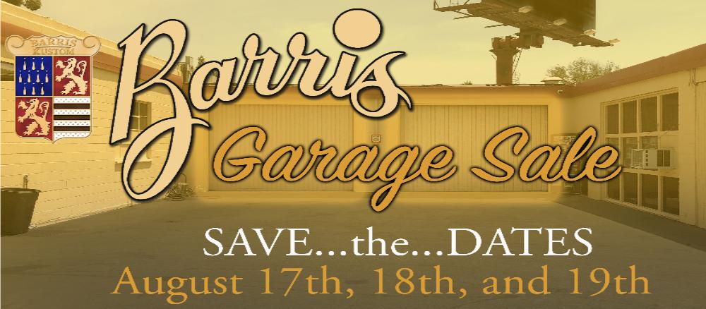 Barris Garage Sale main logo