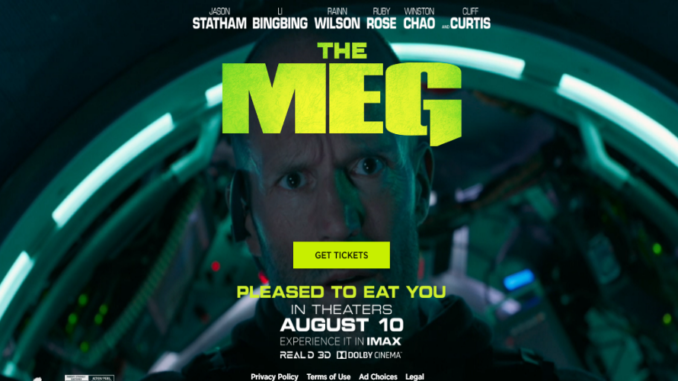 MEG Movie Starring Jason Statham