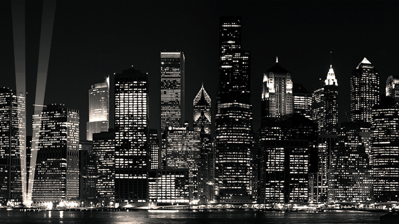City Black And White Wallpaper